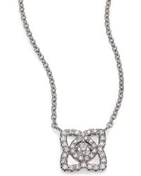De Beers - Enchanted Lotus Diamond & 18k White Gold Mini Pendant Necklace - Lyst