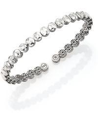 John Hardy - Palu Sterling Silver Slim Flex Cuff Bracelet - Lyst