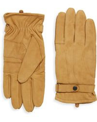 Barbour - Snap Leather Gloves - Lyst