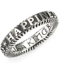 King Baby Studio - American Voices Happiness Stackable Ring - Lyst