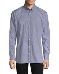 Bugatti - Printed Long Sleeve Sport Shirt - Lyst