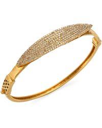 Bavna - 18k Gold & Diamond Pavé Bangle - Lyst