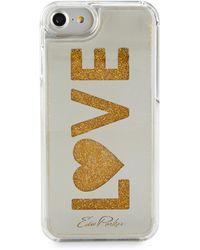 Edie Parker - Women's Love Floating Phone Case - Gold - Lyst