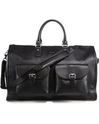 Hook + Albert - Pebbled Leather Carry-on Garment Weekender Bag - Lyst