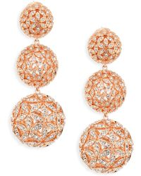 Adriana Orsini - Anise Rose Gold-plated Ball Drop Earrings - Lyst