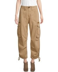 Tommy Hilfiger - Cropped Cotton Cargo Trousers - Lyst