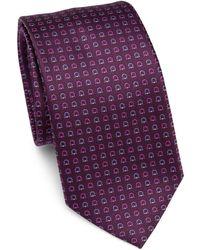 Ferragamo - Gancini Horseshoe Silk Tie - Lyst