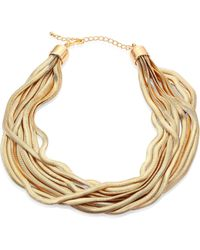 Kenneth Jay Lane   10-row Snake Chain Necklace   Lyst