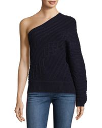 Joie - Orella Wool One-shoulder Cable Knit Sweater - Lyst