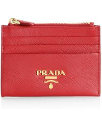 69d4a88bdc30 Prada Cahier Leather Card Case in Natural - Lyst
