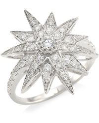 SHAY - Celestial Diamond & 18k White Gold Starburst Ring - Lyst