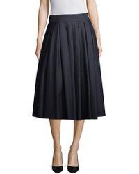 Khaite - Alexa Pleated Skirt - Lyst
