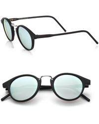 Kyme - Frank 46mm Round Pantos Mirror Sunglasses - Lyst