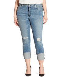 NYDJ - Plus Lorena Folded Cuff Boyfriend Jeans - Lyst