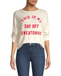 Wildfox - This Is My Day Off Sweatshirt - Lyst