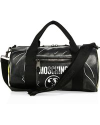 Moschino - Leather Duffel Bag - Lyst