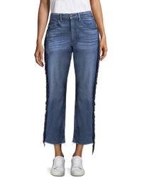 3x1 - Higher Ground Fringe Crop Jeans - Lyst