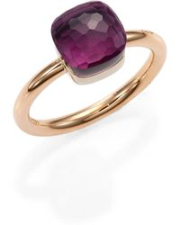 Pomellato - Nudo Amethyst & 18k Rose Gold Small Ring - Lyst