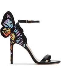 a93a8988b Gucci Phoebe High Heel Sandal with Jeweled Embroidery in Metallic - Lyst