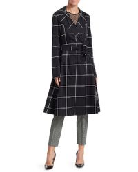 Akris Punto - Big Grid Belted Trench Coat - Lyst