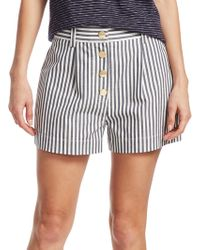10 Crosby Derek Lam - Striped Cotton Shorts - Lyst