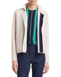 Akris - Cashmere Stripe-knit Cardigan - Lyst