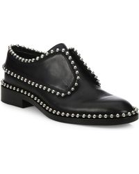 Alexander Wang - Wendie Leather Embellished Laceless Oxfords - Lyst