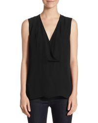 Theory - Crossover Shell Silk Top - Lyst