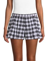 Caroline Constas - Pleated Gingham Shorts - Lyst