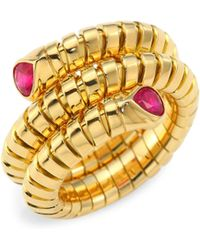 Marina B - Trisola Ruby And 18k Yellow Gold Ring - Lyst