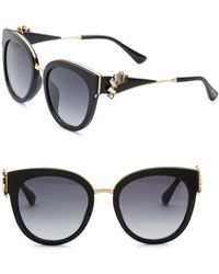 Jimmy Choo - Jade Oversize Sunglasses & Crystal Clip-on Ear Climbers - Lyst