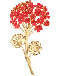 Oscar de la Renta - Painted Geranium Brooch - Lyst