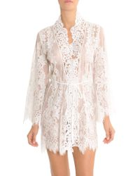 Jonquil - Lace Wrapper Robe - Lyst