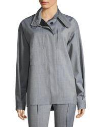 Victoria Beckham - High Neck Cargo Shirt - Lyst