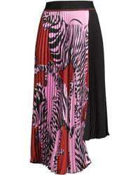 Beatrice B. - Women's Pleated Printed Asymmetric Skirt - Rosa - Lyst
