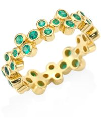 Temple St. Clair - Trio Eternity Emerald Ring - Lyst