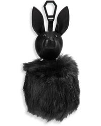 Kendall + Kylie | Bambi Leather & Faux Fur Pom-pom Bag Charm | Lyst