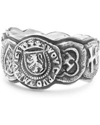 David Yurman - Sterling Silver Shipwreck Coin Band Ring - Lyst