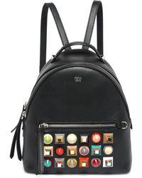Fendi - Black Studded Leather Backpack - Lyst
