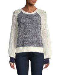 Joie - Golani Colour Block Cotton Knit Jumper - Lyst