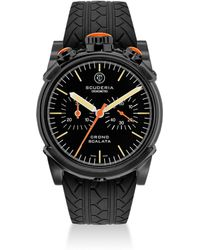 CT Scuderia - Red Zone Ion-plated Stainless Steel & Rubber Strap Watch - Lyst