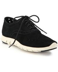 Cole Haan | Zerogrand Suede Oxford Trainers | Lyst