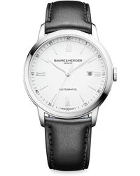 Baume & Mercier - My Classima 10330 Stainless Steel & Leather Strap Watch - Lyst