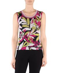 Stizzoli - Floral Sleeveless Shell Top - Lyst