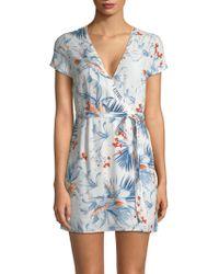L*Space - Suzie Short Wrap Dress - Lyst