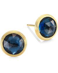 Marco Bicego - Jaipur London Blue Topaz Stud Earrings - Lyst