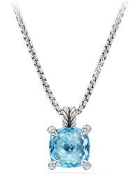 David Yurman - Chatelaine® Pendant Necklace With Gemstone And Diamonds - Lyst