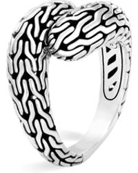 John Hardy - Classic Chain Sterling Silver Ring - Lyst