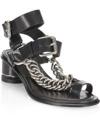 Alexander Wang - Jada Leather Toe Ring Sandals - Lyst