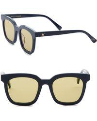 d3ba55e042f Gentle Monster Dreamer Hoff 53mm Mirrored Square Sunglasses in Blue ...